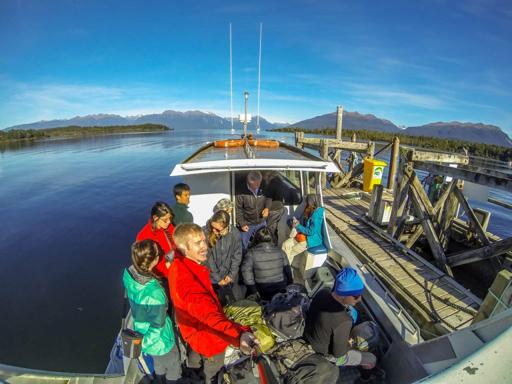 Bootsüberfahrt zum Startpunkt