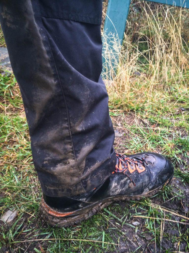 Matschiges und nasses Wetter am Breast Hill Track