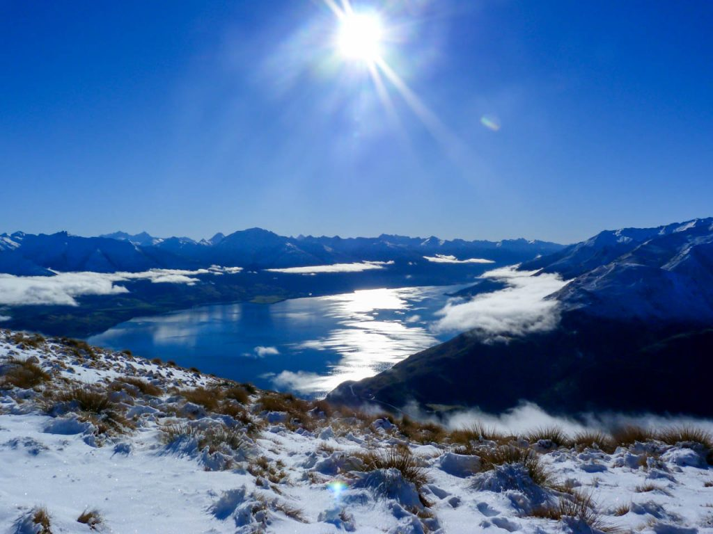 Aussicht auf Lake Wanaka von Isthmus Peak