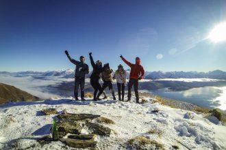 Das Team der Isthmus Peak Track Wanderung
