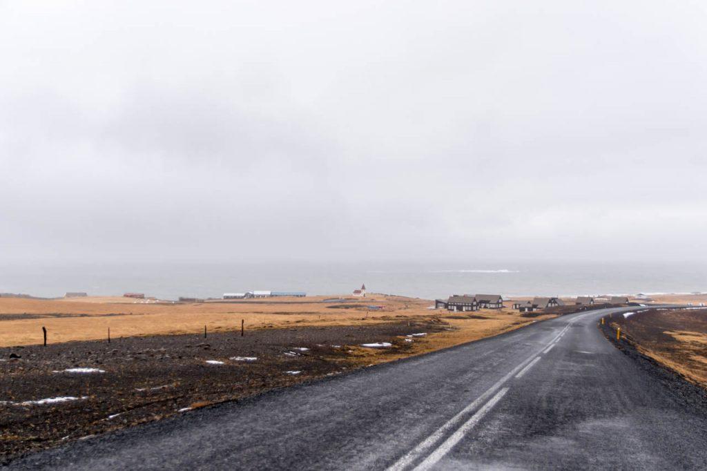 Straße auf der Halbinsel Snæfellsnes