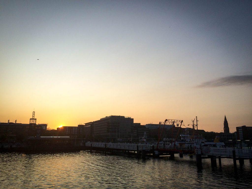 Start der Kreuzfahrt in Kiel