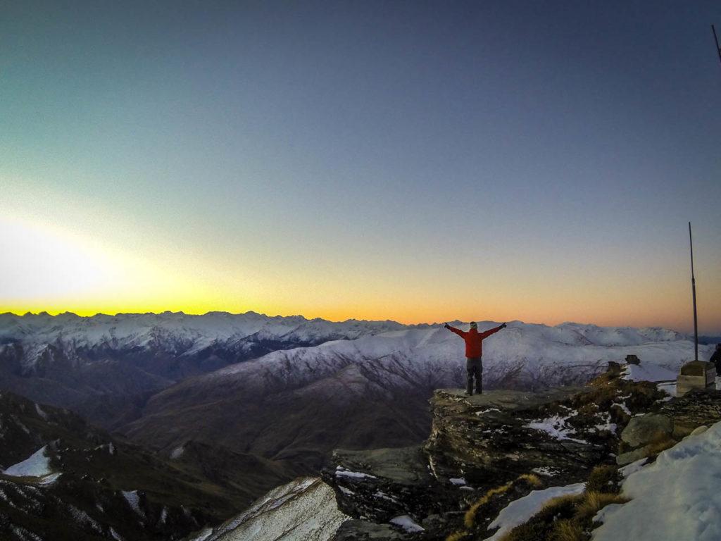 Bester Ausblick auf den Gipfeln von Coronet Peak