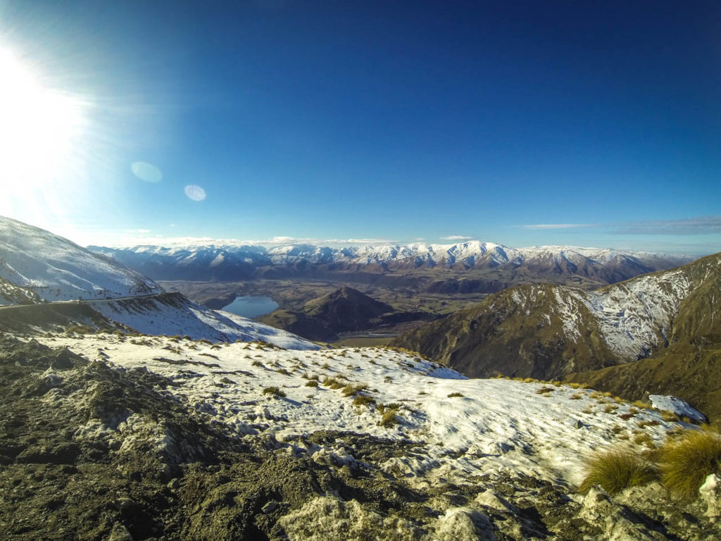 Unbefestigte Straßen führen in alle Skigebiete in Neuseeland