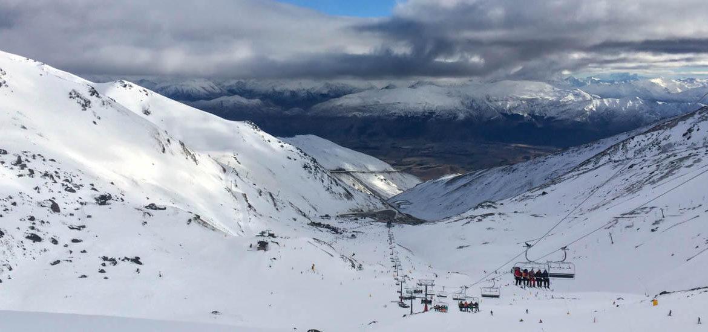 Snowboarden in Neuseeland