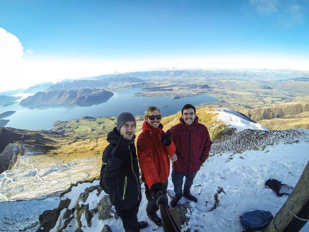 Roys Peak - Gipfel mit Ausblick auf Wanaka