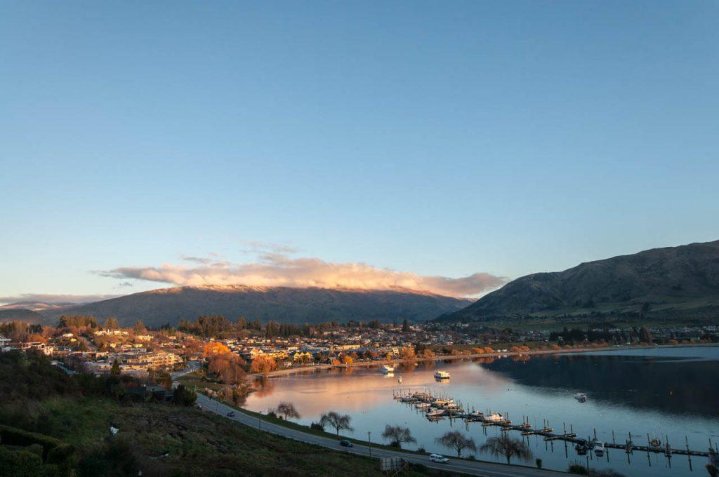 Sonnenaufgang in Wanaka