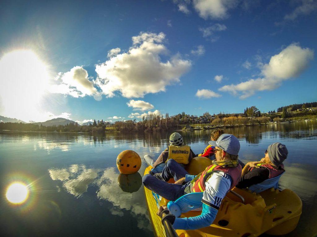 Tretboot fahren auf Lake Wanaka