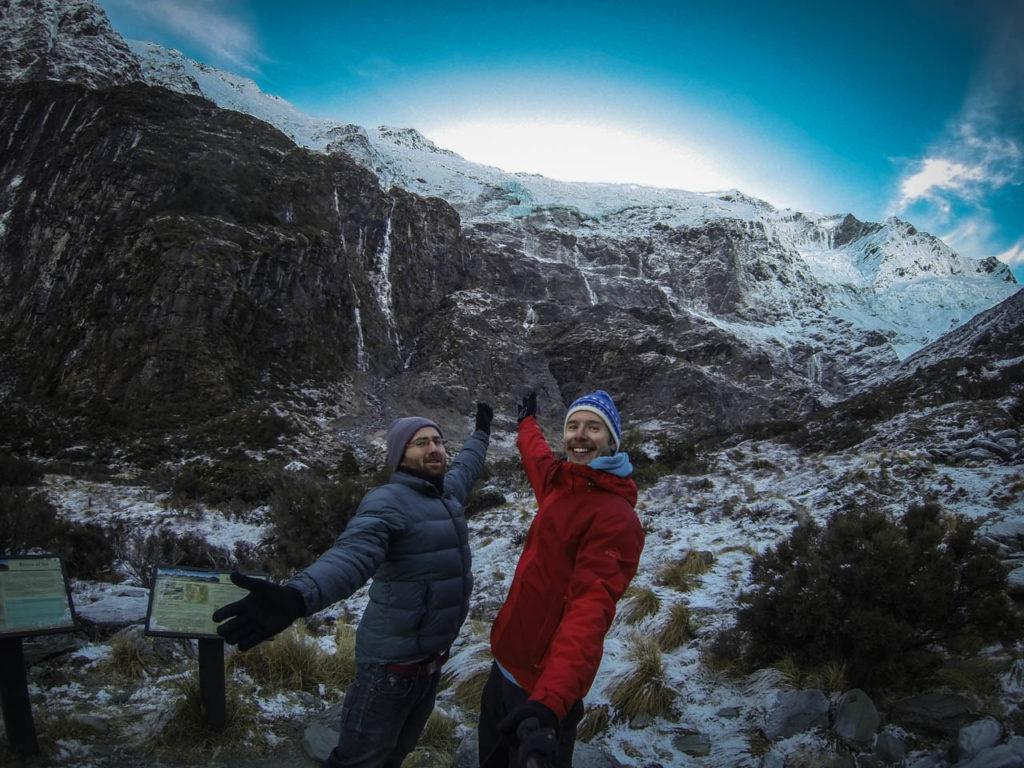 Aussichtspunkt am Rob Roy Gletscher