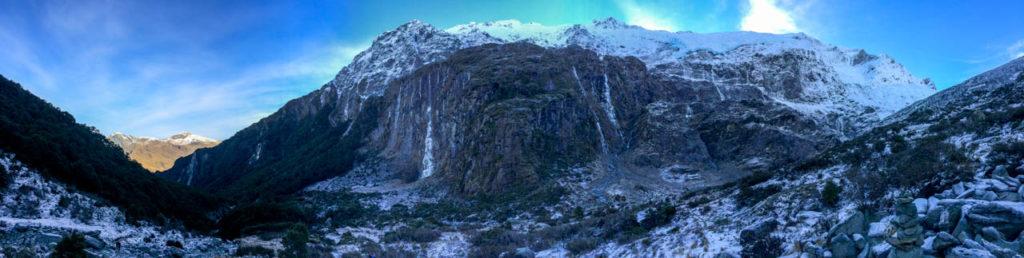 Panoramabild vom Rob Roy Gletscher