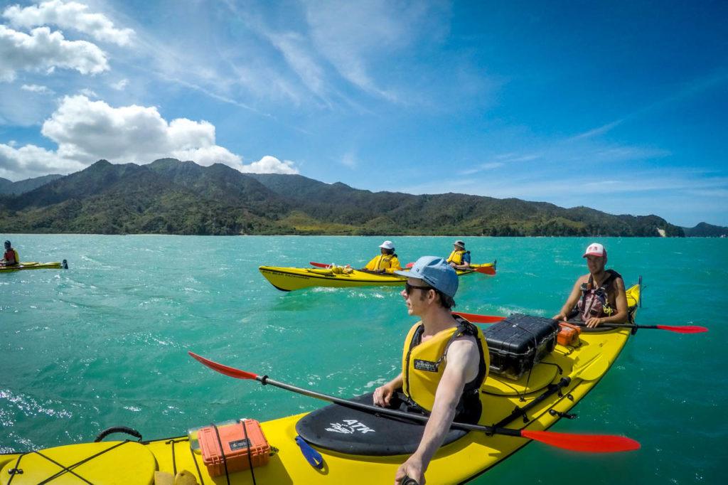 Letzter Teil der 4-tägigen Guided Tour im Abel Tasman